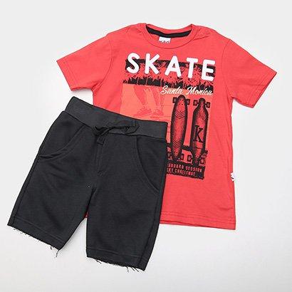 Conjunto Infantil Kiko & Kika Skate Masculina