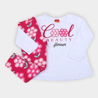 Conjunto Infantil Kyly Floral Cool Beauty Feminino