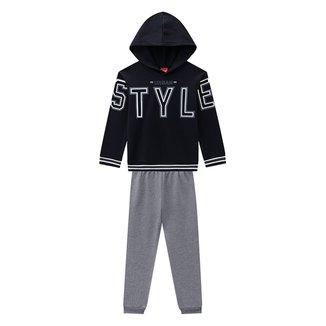 Conjunto Infantil Kyly Moletom Peluciado Blusa + Calça Masculino
