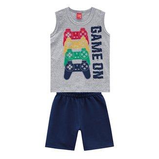 Conjunto Infantil Kyly Regata Game On + Shorts Masculino