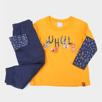 Conjunto Infantil Malwee Estampado Camiseta + Calça Masculino