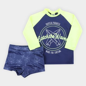Conjunto Infantil Marlan Praia UV 50+ Masculino