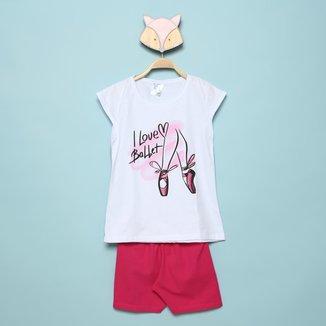 Conjunto Infantil Mia Kids Bailarina Feminino