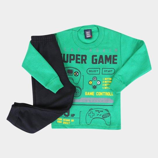 Conjunto Infantil Mia Kids Gamer Masculino - Verde