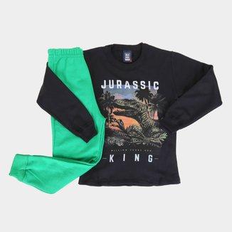 Conjunto Infantil Mia Kids Jurassic King Masculino