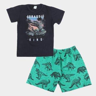 Conjunto Infantil Mia Kids Jurassic Masculino
