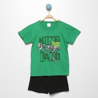 Conjunto Infantil Mia Kids T-Rex Masculino