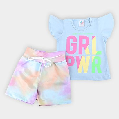 Conjunto Infantil Mia Kids Tie Dye Feminino