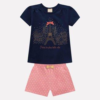 Conjunto Infantil Milon Blusa + Short Feminino