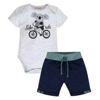 Conjunto Infantil Milon Body c/ Bermuda Masculino