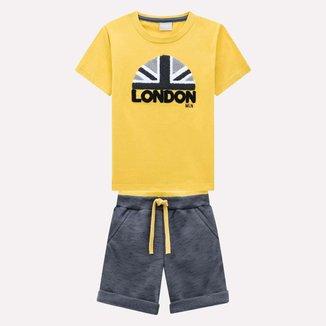 Conjunto Infantil Milon Camiseta + Bermuda Masculino