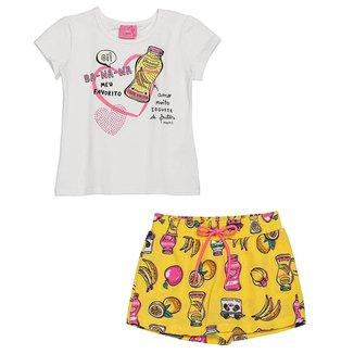 Conjunto Infantil Momi Blusa e Short Saia Banana Feminino