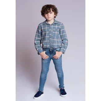 Conjunto Infantil MRX Flanelado Jeans Masculino