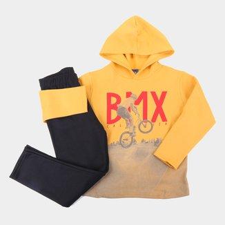 Conjunto Infantil Pipa BMX Capuz Masculino
