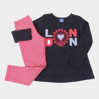 Conjunto Infantil Pipa London Feminino