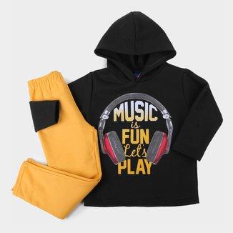 Conjunto Infantil Pipa Music Capuz Masculino