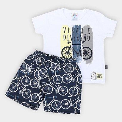 Conjunto Infantil Pulla Bulla Bike Masculino
