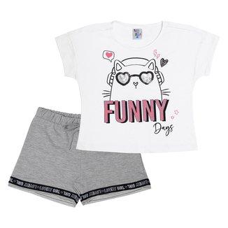 Conjunto Infantil Pulla Bulla Funny Feminino