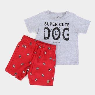 Conjunto Infantil Rovitex Dog Cute Masculino