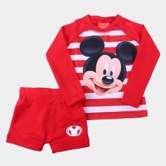 Conjunto Infantil Tip Top Praia Mickey Masculino
