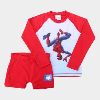 Conjunto Infantil Tip Top Spiderman Manga Longa Masculino