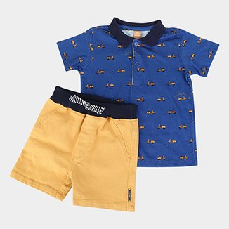 Conjunto Infantil Up Baby Polo Scooter Masculino