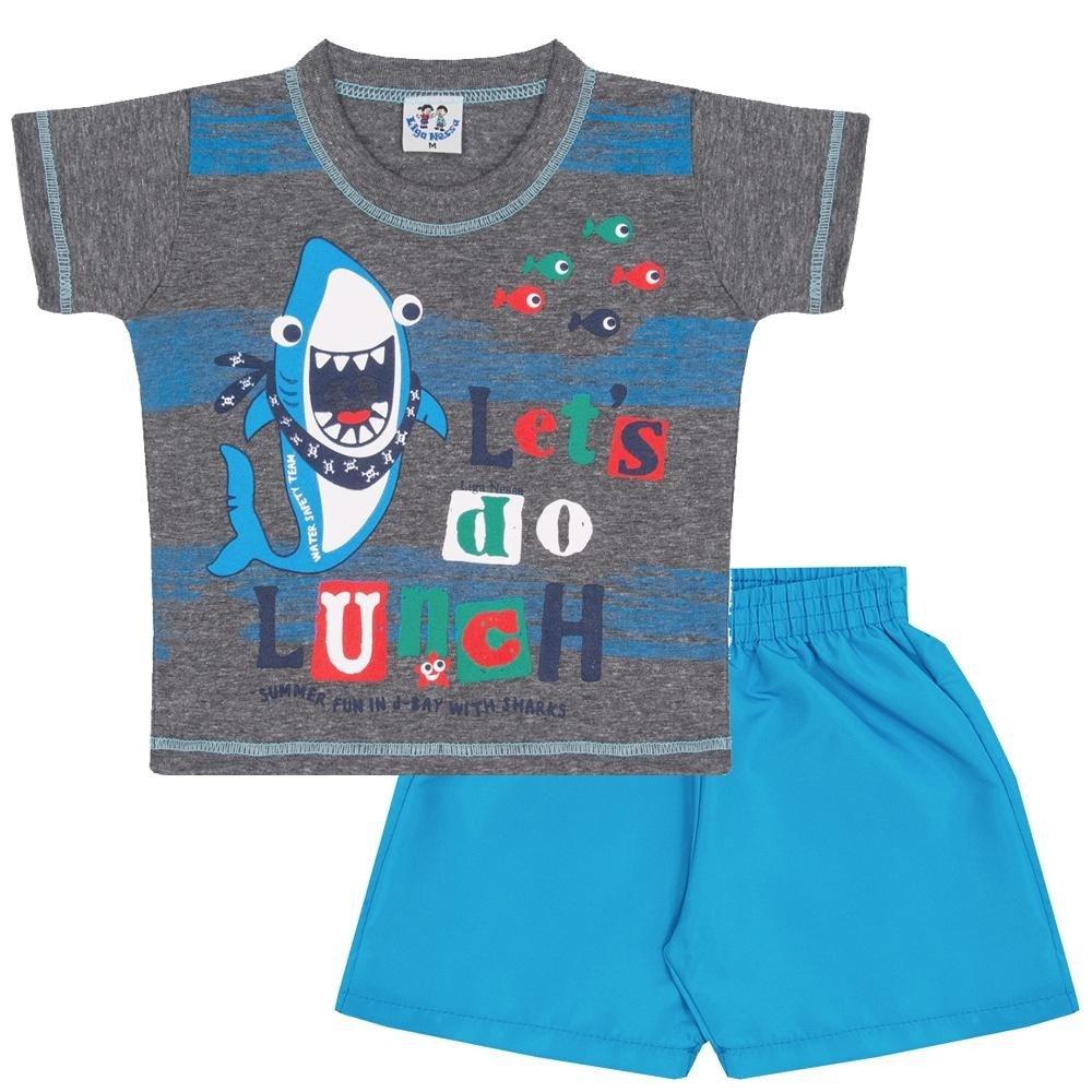 08ba14685b Conjunto Infantil Verão Camiseta Meia Malha Lets Do Chumbo e Bermuda Tactel  Masculino - Compre Agora