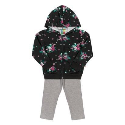 Conjunto Jaqueta E Calça Bebê Moletom Bee Loop Feminino-Feminino