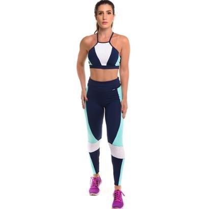 Conjunto Legging Com Top - Proteção Solar Sandy Fitness Force Elegance - Feminino