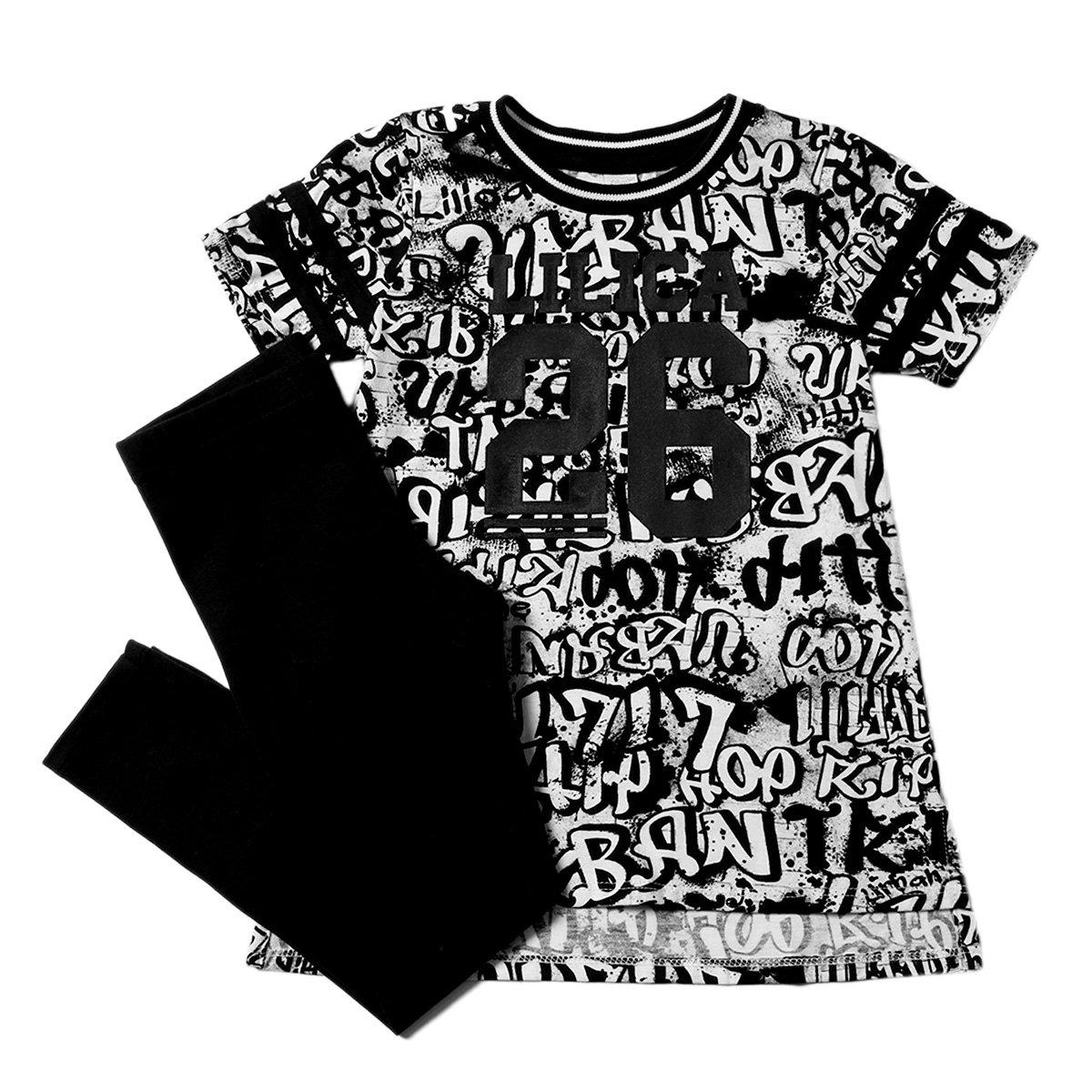 c29cb69ddf440 Conjunto Lilica Ripilica Blusa Estampada e Legging Feminino - Compre Agora