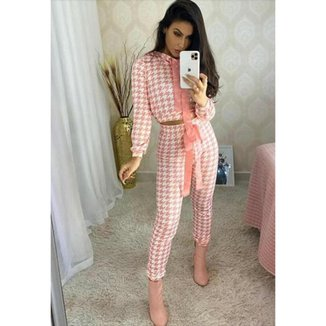 Conjunto Limone blusa e calça rosa - M