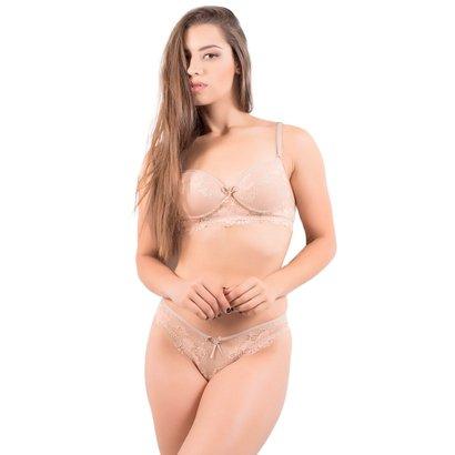 Imagem de Conjunto Lingerie com Bojo e Renda Sexy Aline