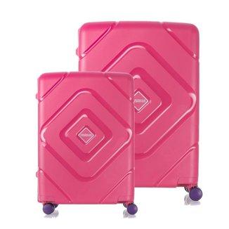 Conjunto Malas de Viagem Polipropileno American Tourister Trigard Spinner 2Pcs P/M Sem Ziper Rosa