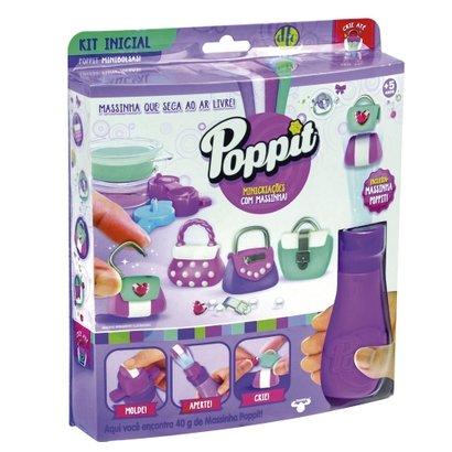 Conjunto Massa de Modelar - Poppit - Kit Inicial - Minibolsas - DTC