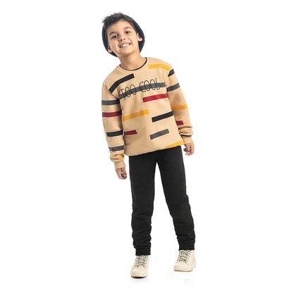 Conjunto Moletom Infantil Kamylus Too Cool Blusa + Calça Masculino