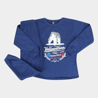Conjunto Moletom Infantil Mia Kids Calça E Blusa Yellowstone Masculino