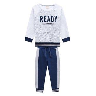 Conjunto Moletom Infantil Milon Ready Masculino