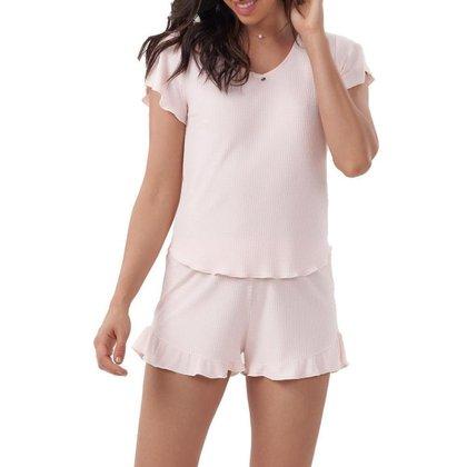 Conjunto Pijama Cor Com Amor Feminino