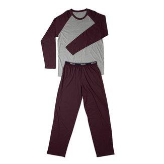 Conjunto Pijama Mash Masculino Algodão Manga Longa