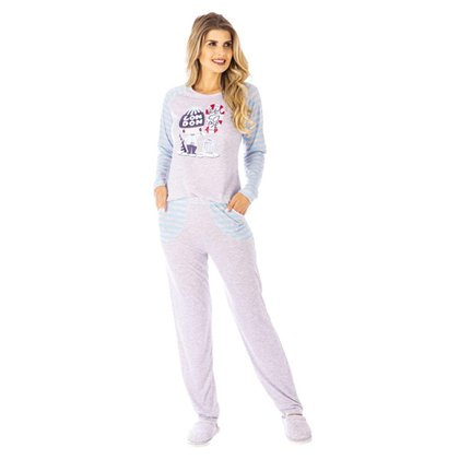 Conjunto Pijama Victory Inverno Pv Feminino