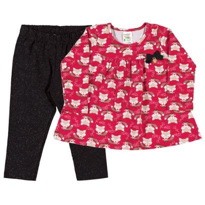 Conjunto Rotativo Bebê Menina Cotton