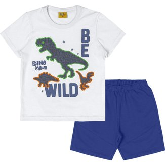 Conjunto: camiseta meia malha e bermuda moletom fit 94423