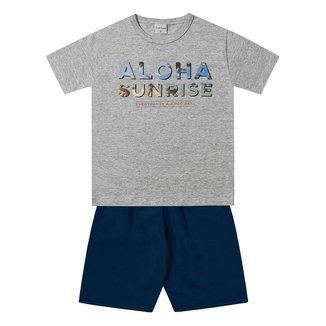 Conjuntos Camiseta + Bermuda For Fun by Fakini Masculino-2173