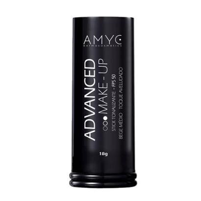 Corretivo Bastão Stick Tonalizante FPS 50 Advanced AMYC Vitamina E e FPS 50 Bege Médio 18g