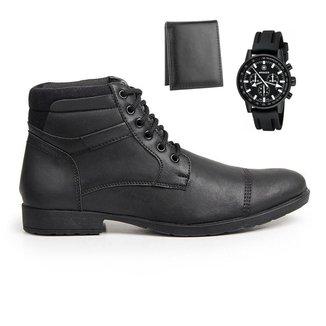Coturno Masculino Conforto Leve + Carteira + Relógio Casual