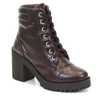 Coturno Tag Shoes Feminino Cano Médio Cadarço Conforto