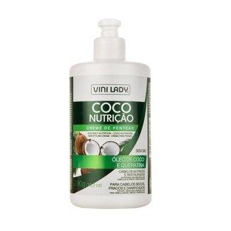 Creme De Pentear Coco Nutrição Óleo de Coco e Queratina Vini Lady