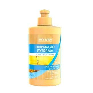 Creme de Pentear Hidratação Extrema Óleo de Argan e Filtro UV 290g Vini Lady