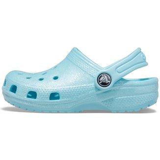 Crocs Classic Clog Infantil Glitter Ice Blue