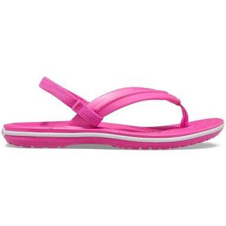 Crocs Crocband Strap Flip Kids Electric Pink